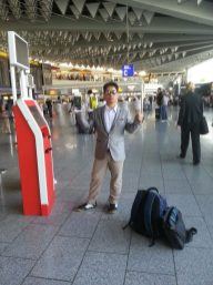 Check-in finished at Frankfurt airport!