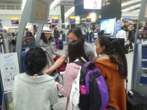 Checking in at Heathrow Airport