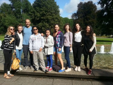 Jana, Anika, David, me and Donekeo, Rebecca, Svenja, Marie, Hanna