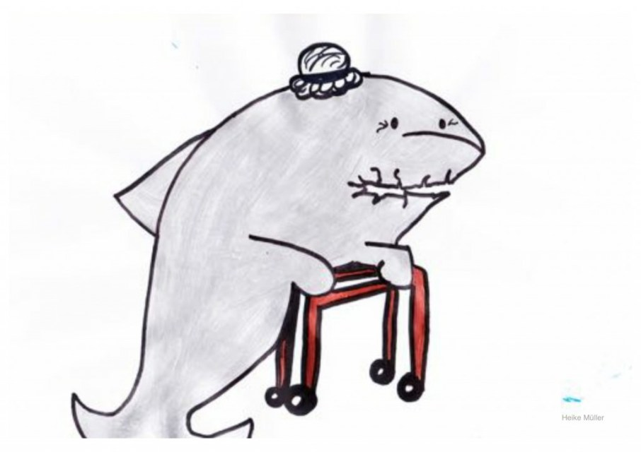 """""""Grandma shark/ doo-'doo/ 'doo-doo-do-'doo"""" (©Heike Müller)"""