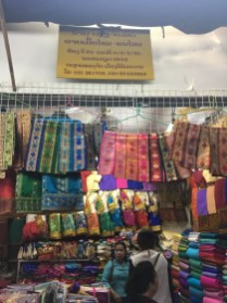 Fabric stall in the heart of the hall