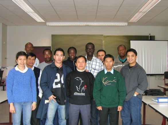 Mr Khamsavay with his international fellow-students