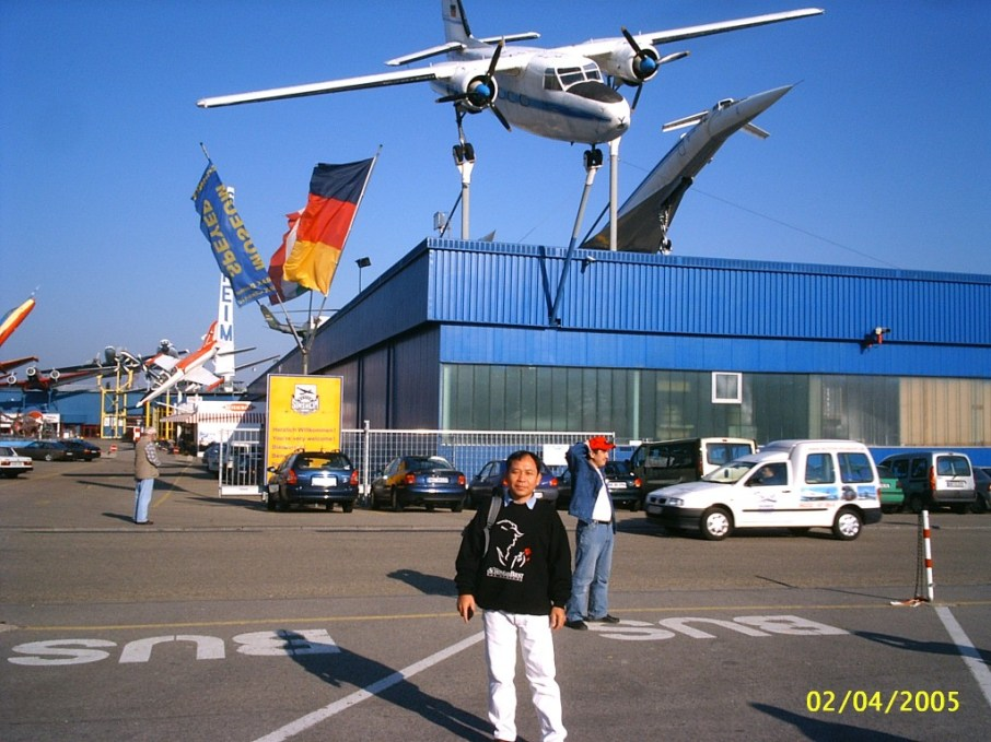 Mr Khamsavay at a museum in Germany