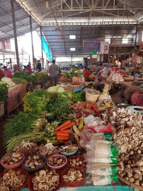 Market in Ban Sikeud