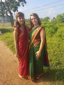 ... and in sarees...