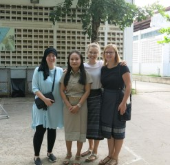 Dilara, Ms Moukdala, Patricia and Nicole on Teachers' Day