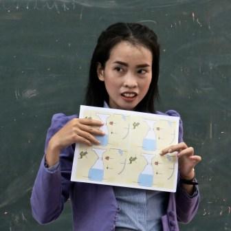 English teacher at the LGTC, Vientiane