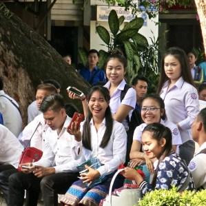Students on Teachers' Day, LGTC, Vientiane