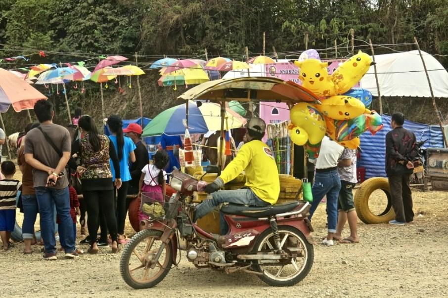 Street seller, Vientiane Province