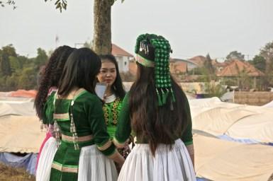 Girls' group chatting