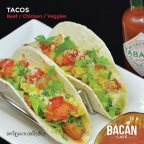 Bestsellers: Tacos,with a choice of beef, chicken, or vegetables