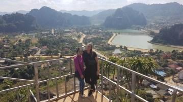 ...Khamsee and Jasmin on the platform of Pha Nang Mone