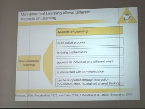 ... on the didactics of primary maths.