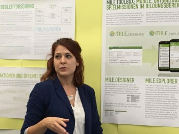 Ms Heike Mueller explains her project...