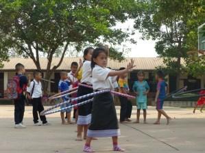 ... the girls love to dance hula hoop...