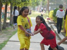 Some children just play with their friends, run around, and have fun!