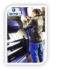 ... in the corrugating rolls workshop of BHS Corrugated in Shanghai