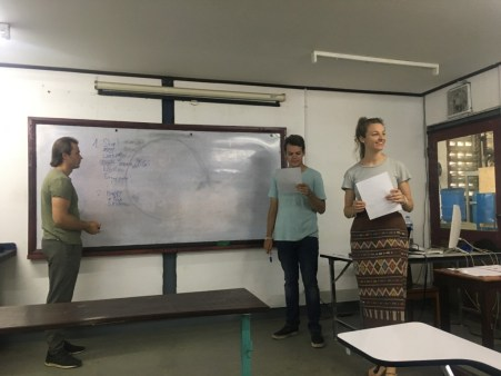 Thomas, Siegfried, and Anna-Sophia deliver theoretical input.
