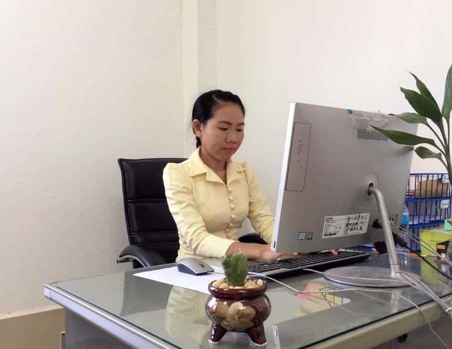 Me (Ms Phetsavanh) at my workplace