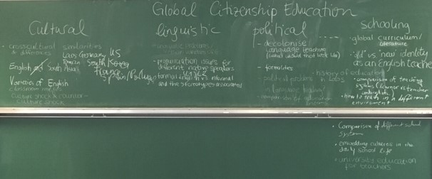 ... still vague at this point. Nobody had heard about Global Citizenship Education before.
