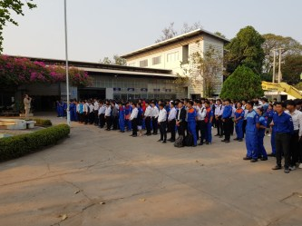 Morning assembly in the LGTC school yard