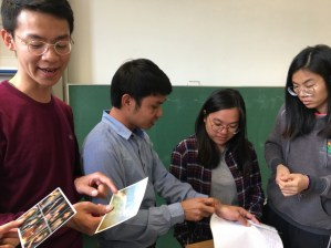 Lao postcards, Korean and Hong Kong students