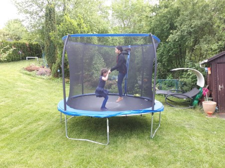 ... and the trampoline!