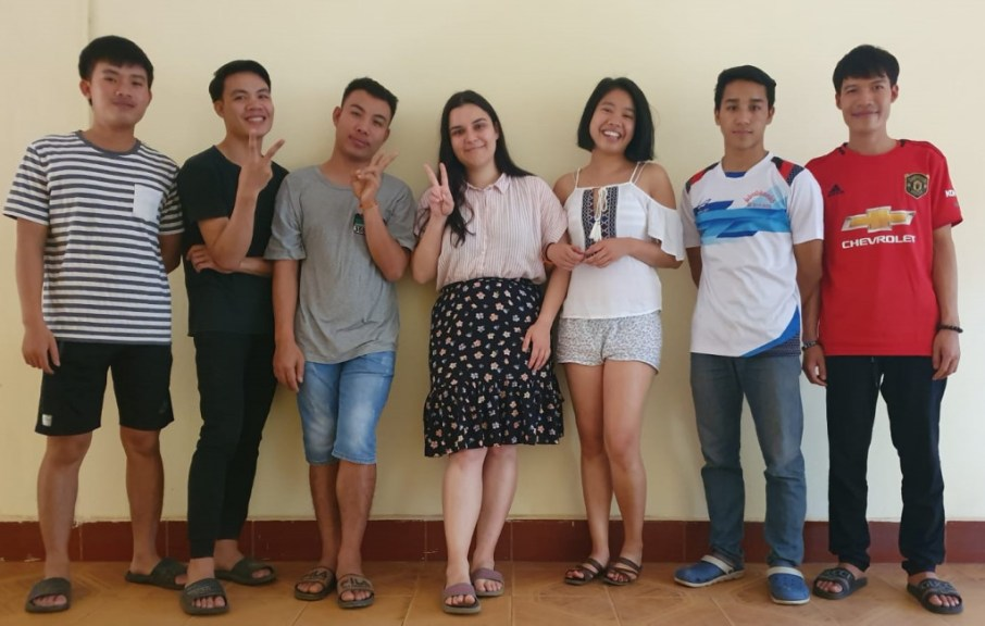 With our favourite dorm buddies: Khamphong, Bounmy, Thongvanh, Yeekeo, and Bounthieng