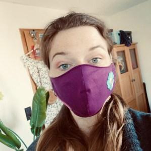 I wear my favourite face mask.