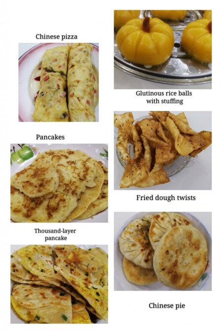 Food made with flour