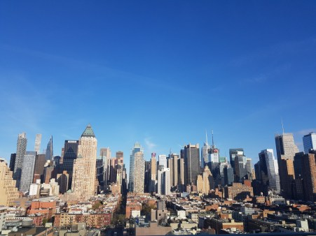 Skyline of New York by day