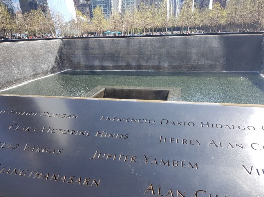 """Ground Zero"", formerly the site of the Twin Towers of the World Trade Center, which were destroyed on 9 September 2001 by two planes"