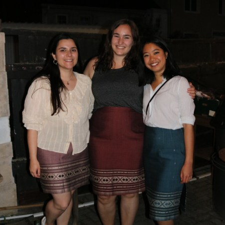 Former volunteers Laura Jakob,Yvonne-Jacqueline Dyck and Phi Ha Nguyen