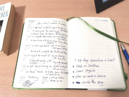 My diary for this week: page 2 is for tasks during the next 2 weeks of quarantine