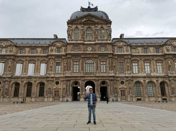 """Entered to the glass pyramid at """"Louvre Museum"""""""