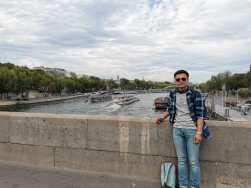 "The bridge across of ""Seine River"""