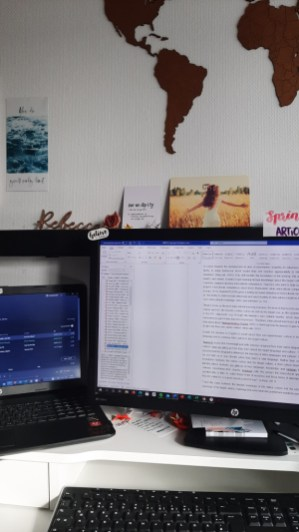 I used the time at home in my study to do a lot of writing ...
