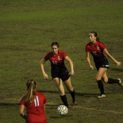 Girls' varsity soccer takes on a tough game and senior night