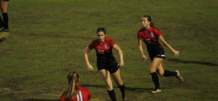 Girls' varsity soccer takes on a tough game and senior night
