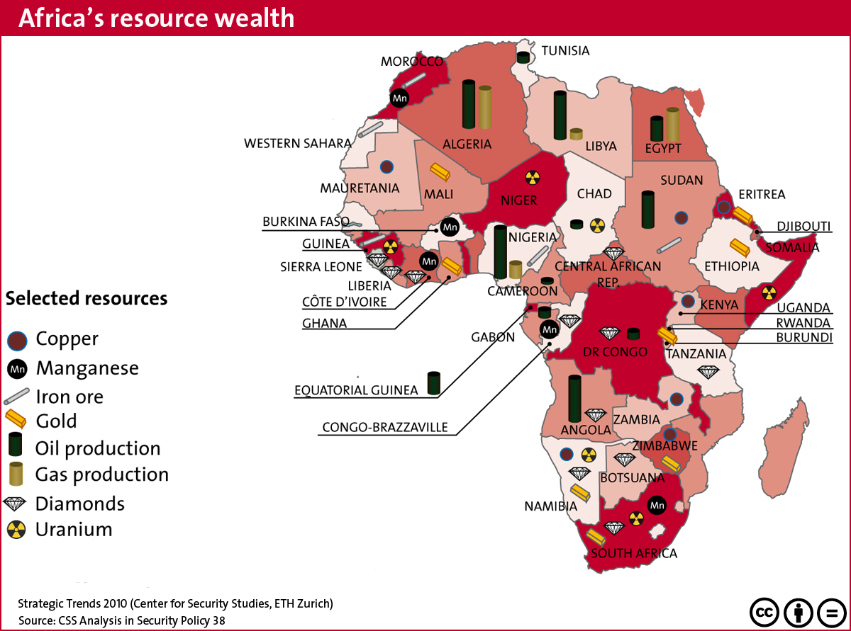 Ghana Natural Resources Map