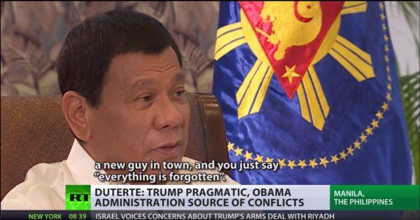 Philippine President Duterte Fears CIA Assassination, Blames U.S. for ISIS Presence