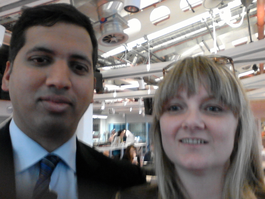Selfie - Jules White and Sky News Political Editor Faisal Islam