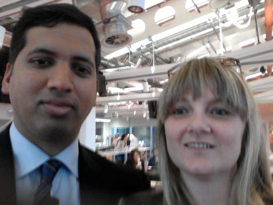 Selfie - Jules White and Sky News Political Editor Faisal Islam