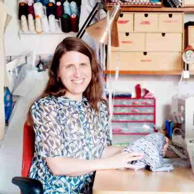 me in my sewing corner