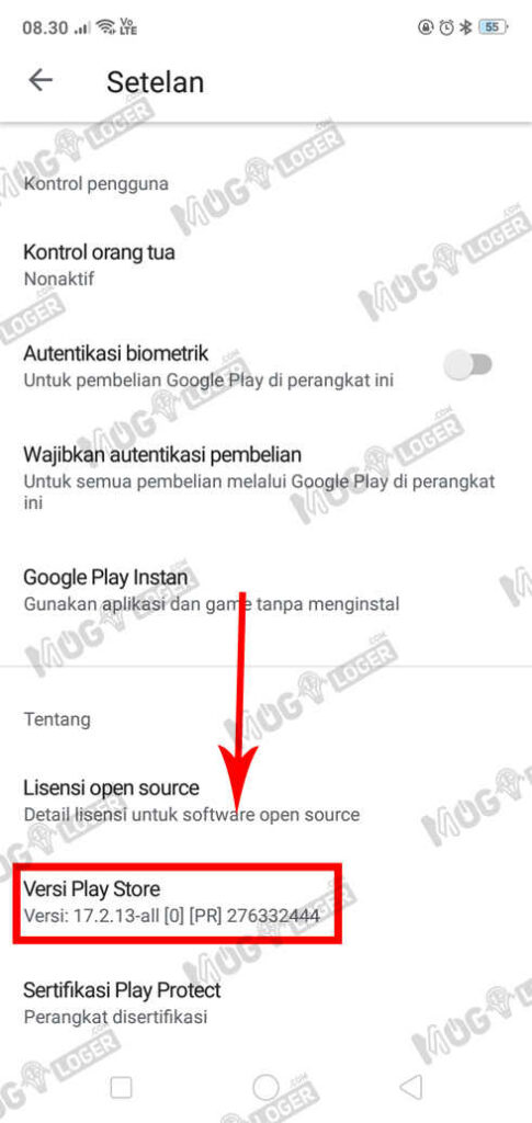 update layanan google playstore