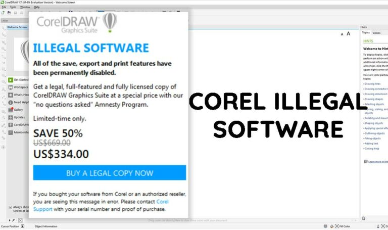 corel draw x7 illegal software