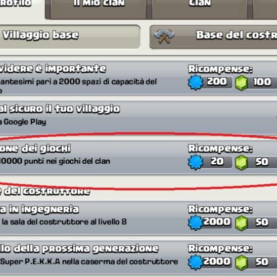 4 1 - Come guadagnare GEMME dal nuovo obiettivo di Clash of Clans