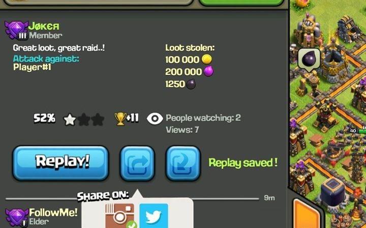 [LEAKS]Condividere e scaricare i replay sul proprio dispositivo direttamente dalla chat di Clash of Clans