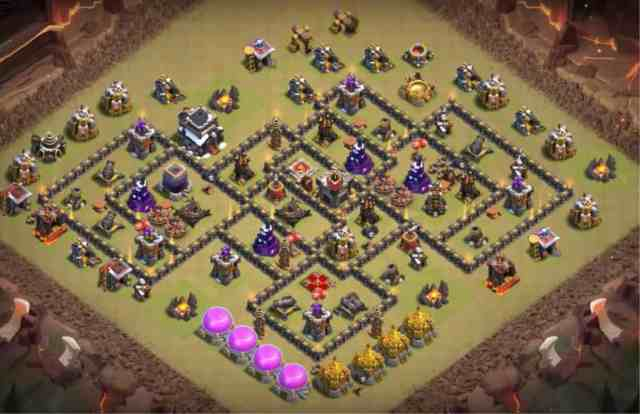 best th9 war base 2018 2 1024x662 - Layout Basi War per Th9 – Marzo 2019 | Clash of Clans