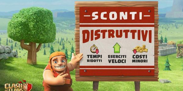 Aggiornamento in arrivo: Tempi & Costi Ridotti su Clash of Clans